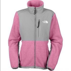 Pink north face Denali zipper jacket coat fleece
